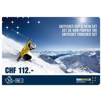 Ticketcorner Skiticket-Gutschein Sets im Wert von CHF 112.00
