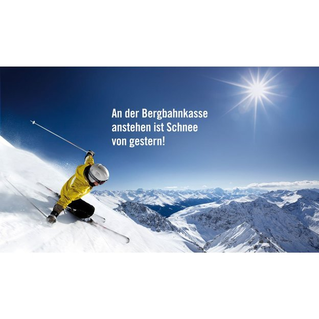 Bon cadeau Ticketcorner ski & skicards d'une valeur de CHF 112.00