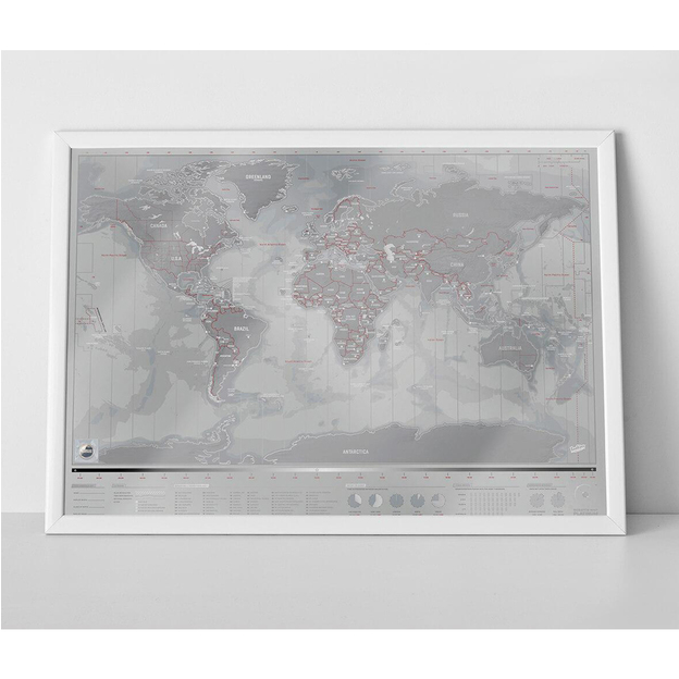 Carte du monde Scratch Platinum