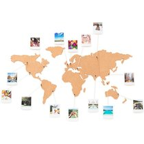 Wanddeko Weltkarte aus Kork inkl. Pins