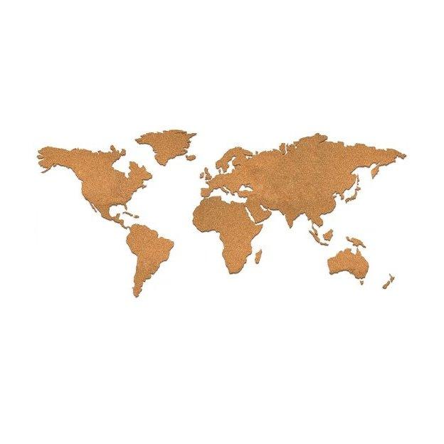 Déco murale carte du monde en liège