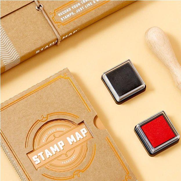 Pass Stamp Map zum selber stempeln