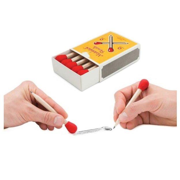 Crayons à papier avec gomme Boîte d'allumettes