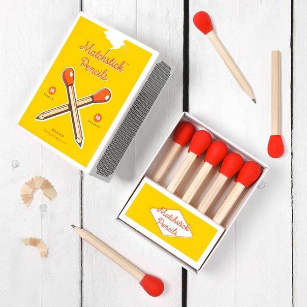 Streichholz Bleistifte mit Radierer
