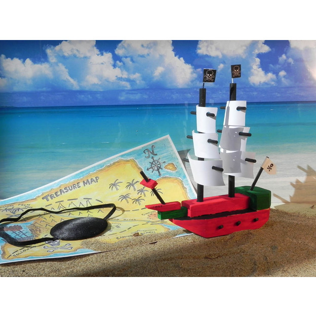 Coffret cadeau Le bateau des pirates