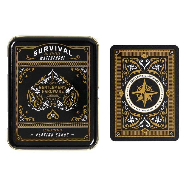 Gentlemen's Hardware Spielkarten mit Überlebenstipps