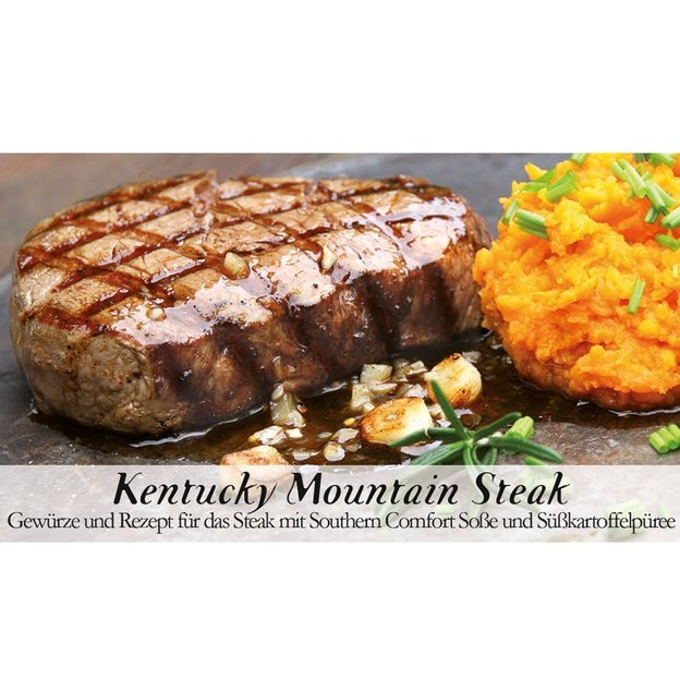 Gewürzbox mit Rezept Kentucky Mountain Steak