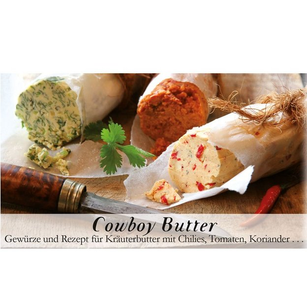 Gewürzbox mit Rezept Cowboybutter