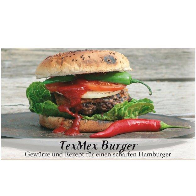 Gewürzbox mit Rezept Tex Mex Burger