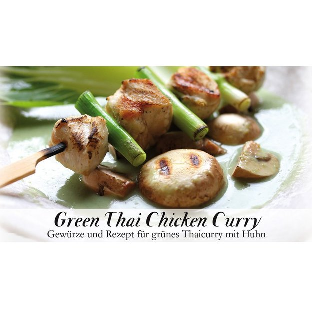 Gewürzbox mit Rezept Green Thai Chicken Curry