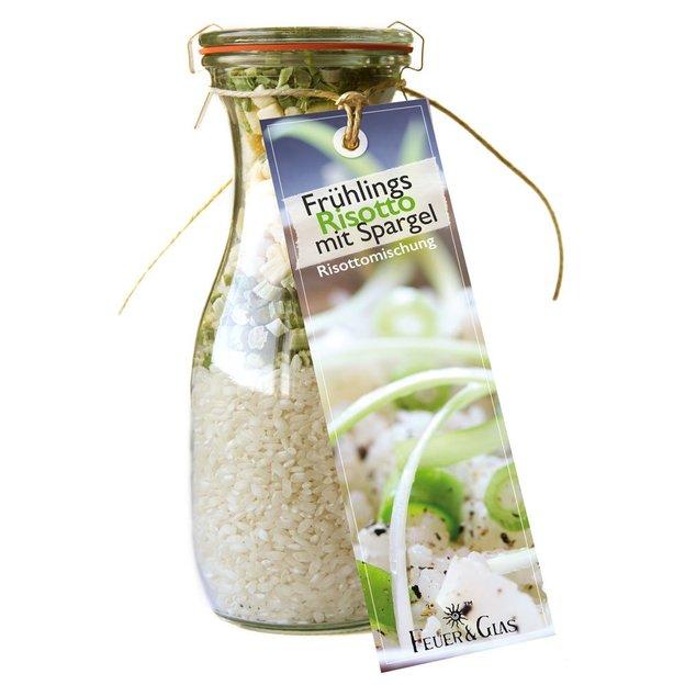 Kit repas complet en bocal risotto de printemps aux asperges
