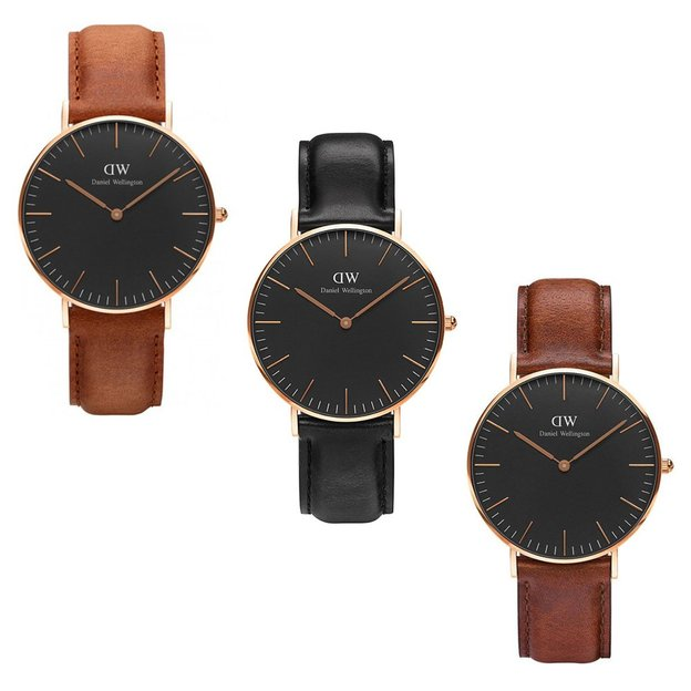 daniel wellington damenuhr classic black ros gold. Black Bedroom Furniture Sets. Home Design Ideas