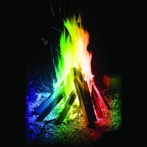Feu magique multicolore
