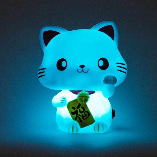 Lampe Glückskatze mit Farbwechsel