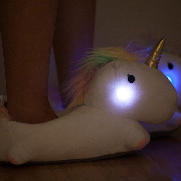 Chaussons lumineux Licorne LED