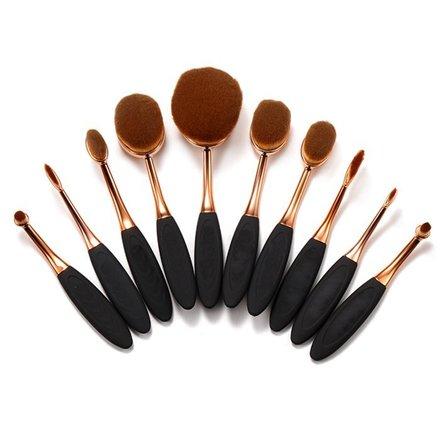 Pinceaux de maquillage Oval Brush set de 10
