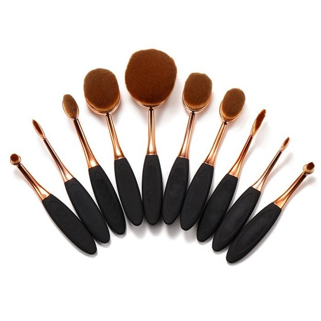 Pinselset Make Up Oval Brush 10-teilig