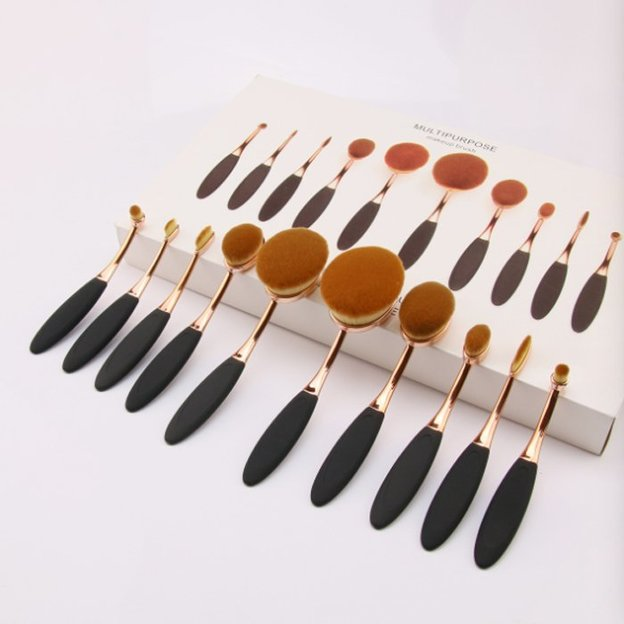 Pinceaux de maquillage Oval Brush set de 10