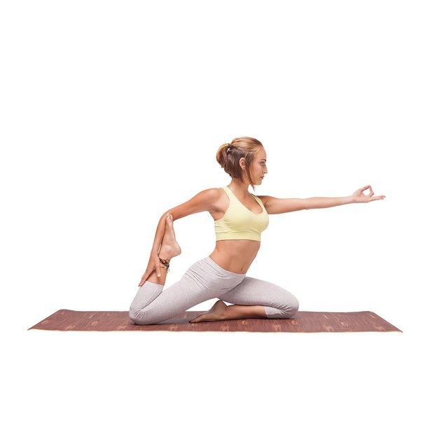 Tapis de yoga au motif d'herbes ou de bois