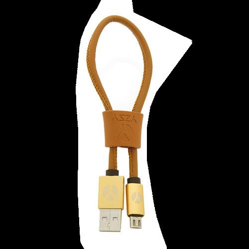 DCS USB Kabel 25cm  Micro USB Brown Leather