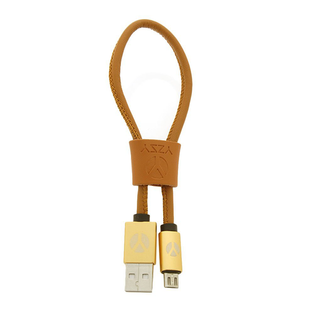 DCS USB Kabel 25cm  Micro USB Brown Leather