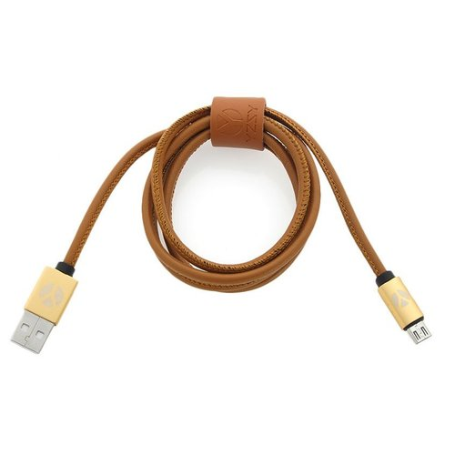Image of DCS USB Kabel 100cm Micro USB Brown Leather