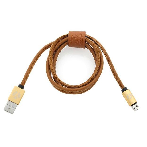 DCS Câble USB Micro 100 cm Brown Leather