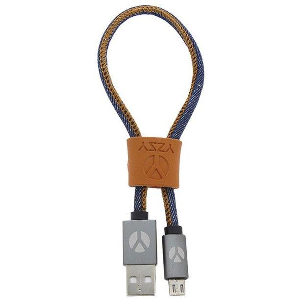 DCS USB Kabel 25cm Micro USB Blue Jeans