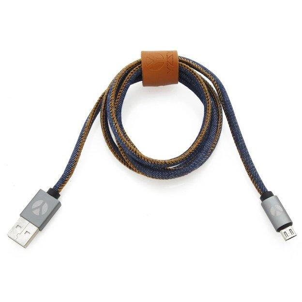 DCS Câble USB Micro 100 cm Blue Jeans