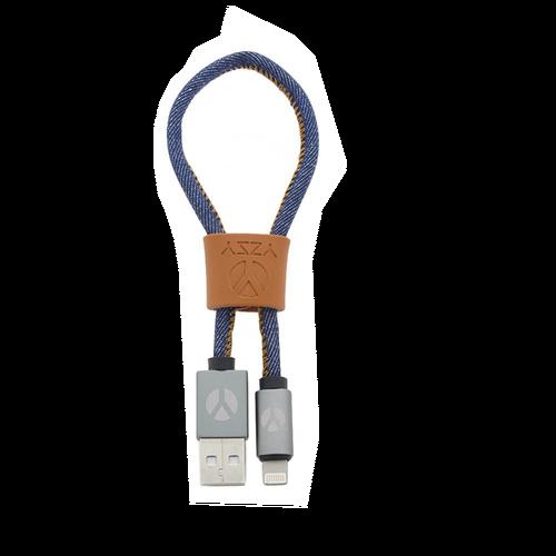 DCS USB Kabel 25cm Lightning Blue Jeans