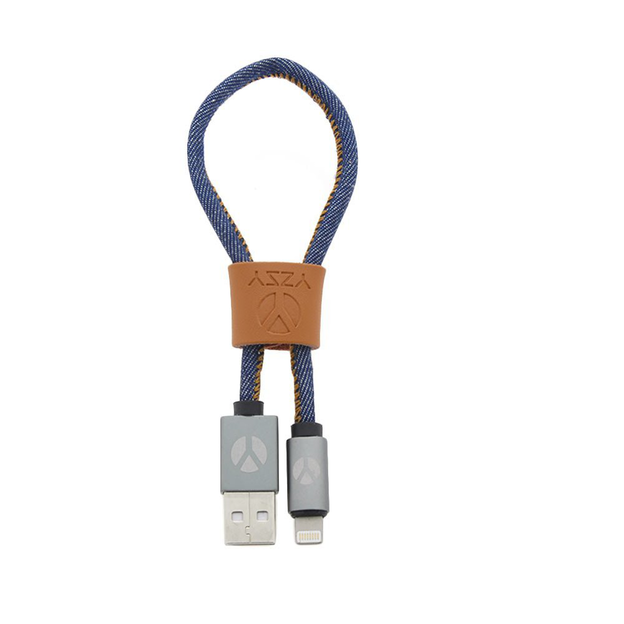 DCS Câble USB Lightning 25 cm Blue Jeans