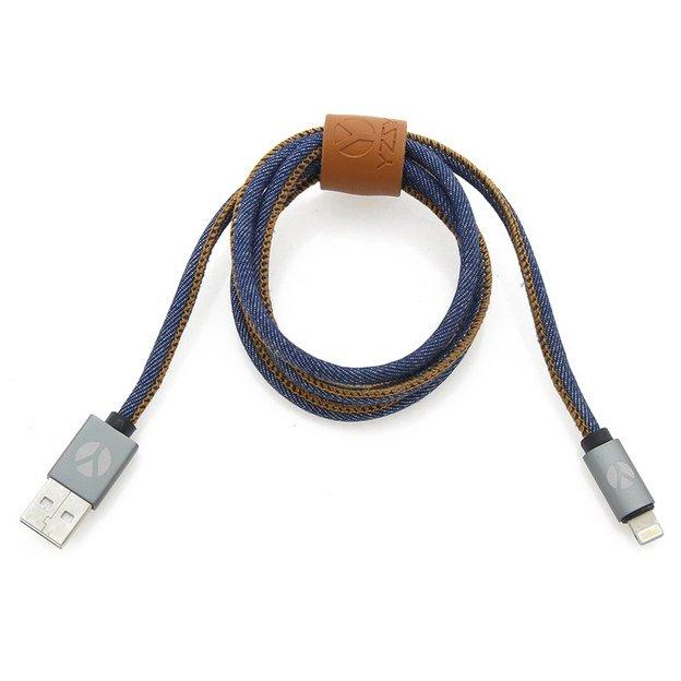DCS Câble USB Lightning 100 cm Blue Jeans