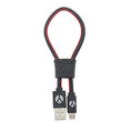 DCS USB Kabel 25cm Micro USB Black Leather
