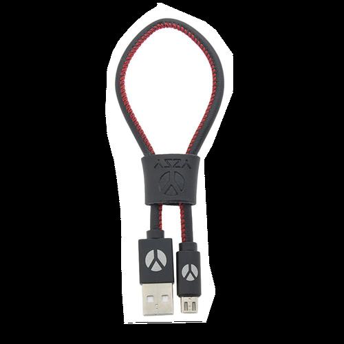 DCS USB Kabel 25cm Micro USB Black Leather