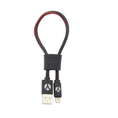 DCS Câble USB Lightning 25cm Black Leather