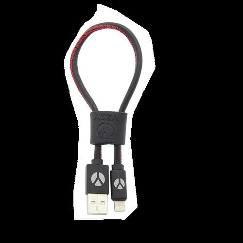 DCS USB Kabel 25cm Lightning Black Leather