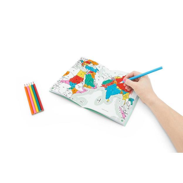 Bemalbares Reisetagebuch inkl. 6 Farbstiften