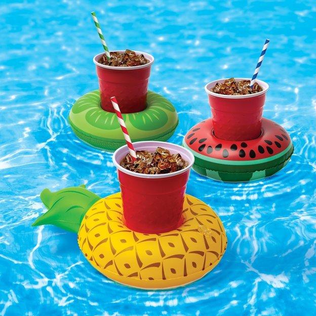 Aufblasbare Getränkehalter tropische Früchte