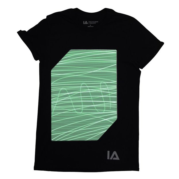 Interaktives Glow T-Shirt Kids black