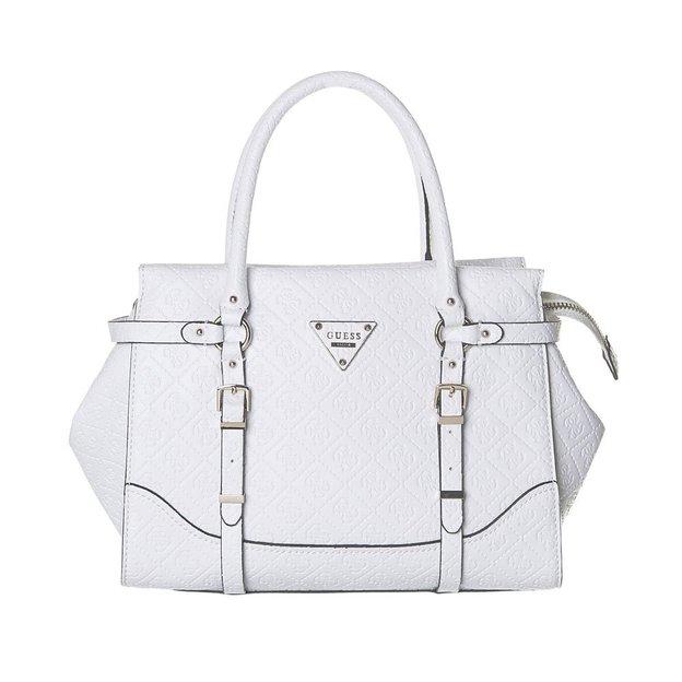 Guess Handtasche Daniella Satchel White