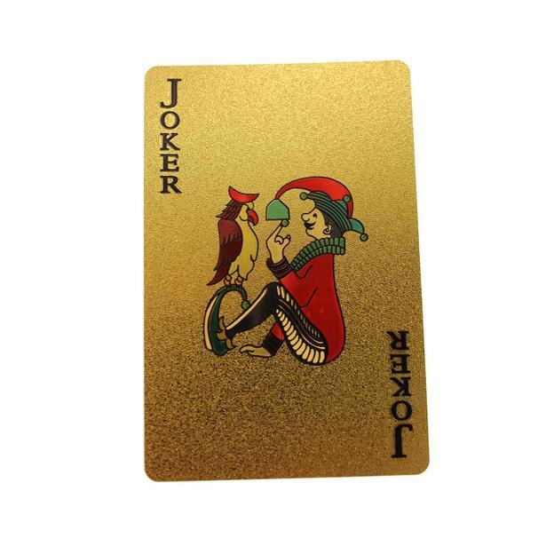 Jeu de cartes en feuilles d'or avec certificat