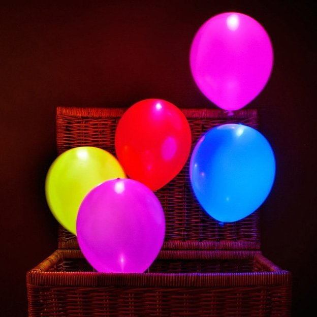 Ballons LED multicolores, 15 pcs