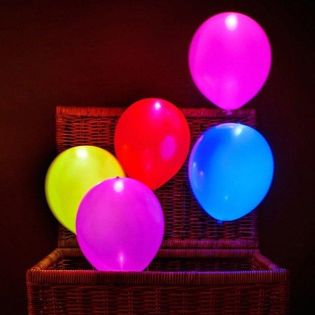 LED Ballone farbig 15 Stück