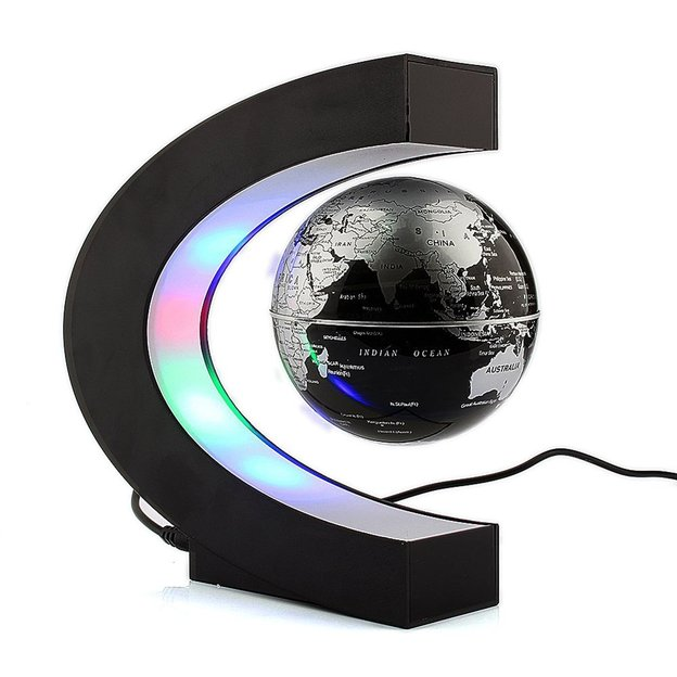 magnetischer globus mit led lichter. Black Bedroom Furniture Sets. Home Design Ideas