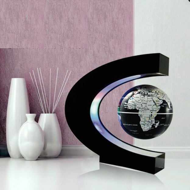 magnetischer globus mit led lichter. Black Bedroom Furniture Sets. Home Design Ideas