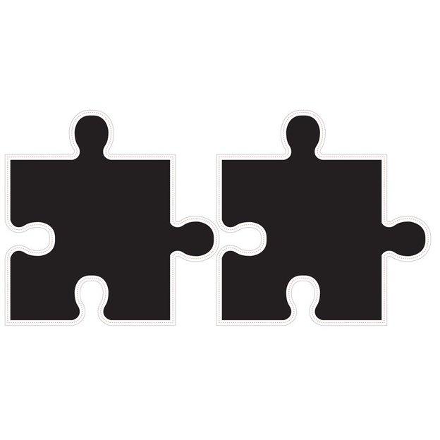Autocollants muraux puzzle tableau noir for Autocollant muraux