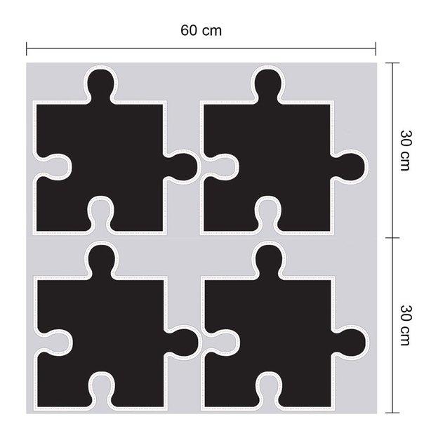 Autocollants muraux Puzzle Tableau noir