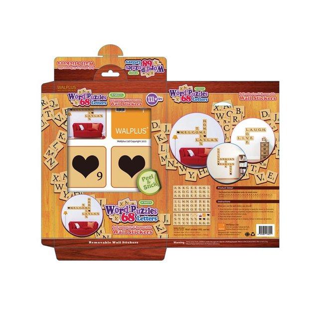 Scrabble Wanddeko Sticker - zum selber gestalten