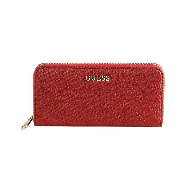 Guess Portemonnaie Aria mit Steppnaht Red