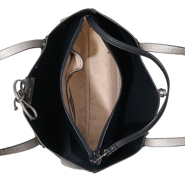 Guess Handtasche Bobbi Pewter Black